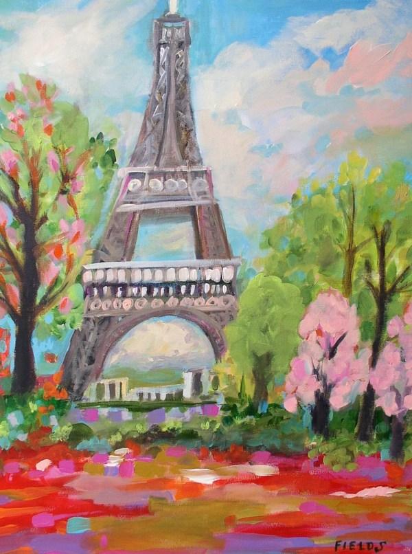 Original Eiffel Tower Painting 18 X 24