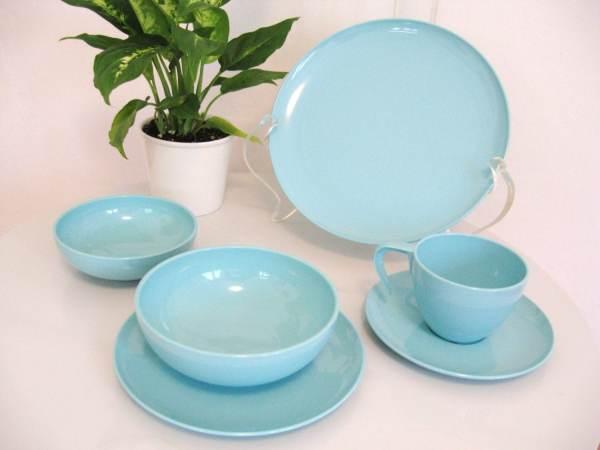 Vintage Plastic Dinnerware Set