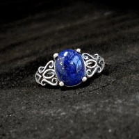 Lapis Lazuli Ring: Sterling and Lapis size 5.5 by ...