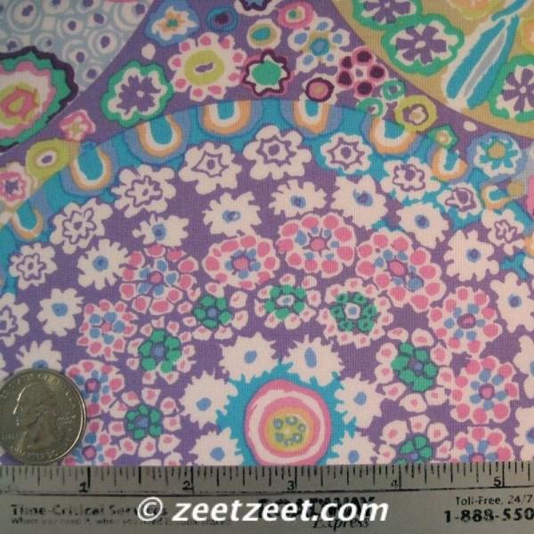 Kaffe Fassett Millefiore Gp92 Lilac Floral Quilt Fabric