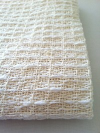 White Baby Blanket Hand Woven Blanket Heirloom Cotton Blanket