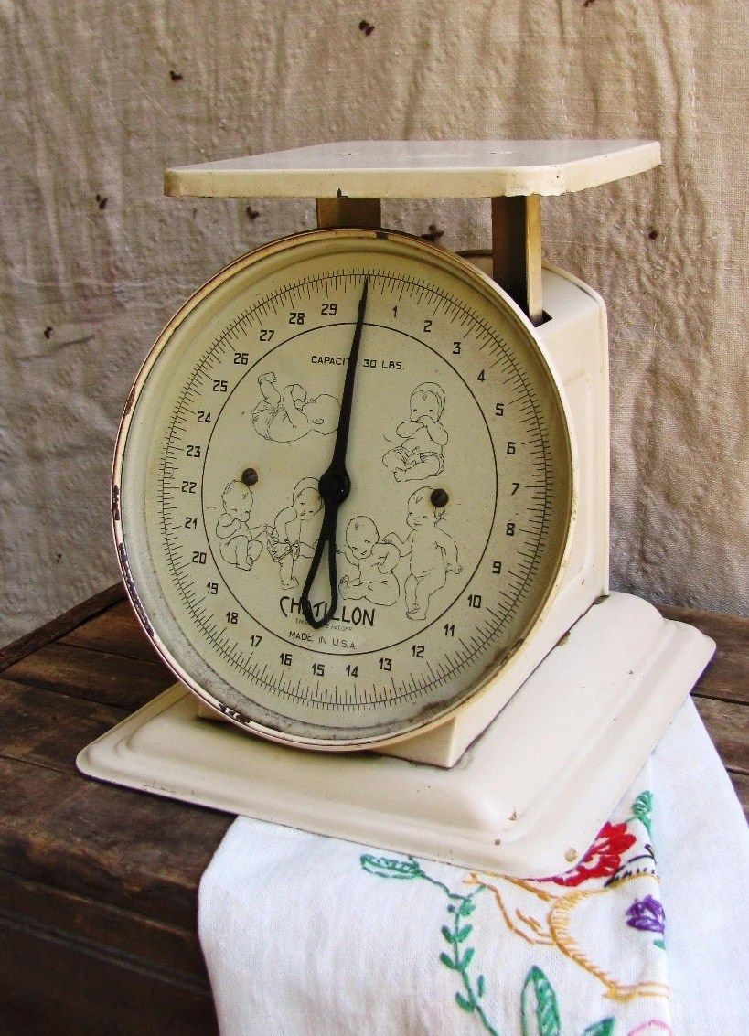 BABY MINE Vintage Chatillon Scale 1940s 1950s