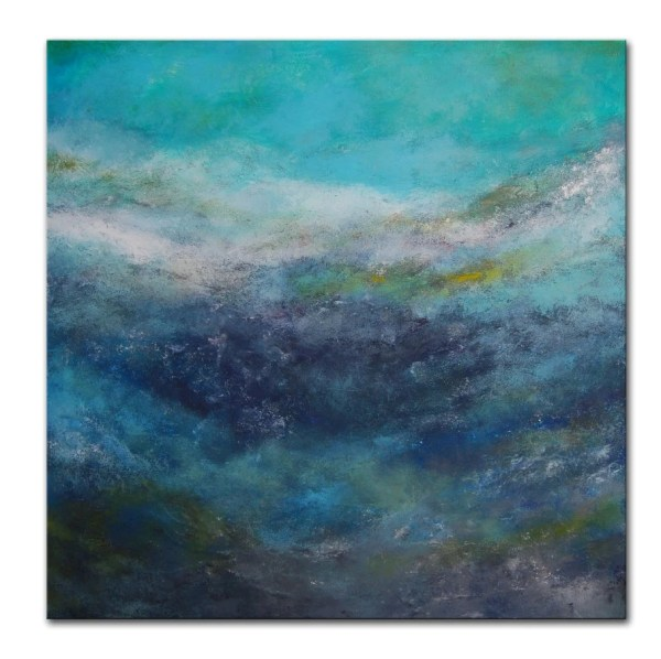Blue Abstract Painting Aqua Art Water Ocean Sea Order