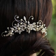 wedding hair comb rhinestone flower