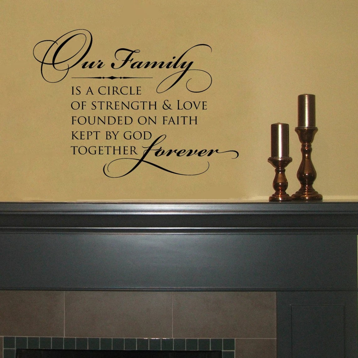 Download Our family is a circle of strength and love... Vinyl Wall