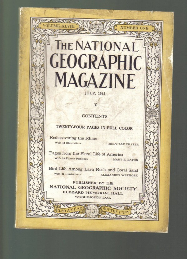 National Geographic Magazine July 1925 Clip Art Supply