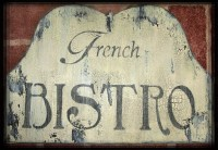 Vintage FRENCH BISTRO Sign French Country Paris Cottage Chic