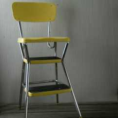 Chair Step Stool Aluminum Rocking Lawn Vintage Yellow Cosco