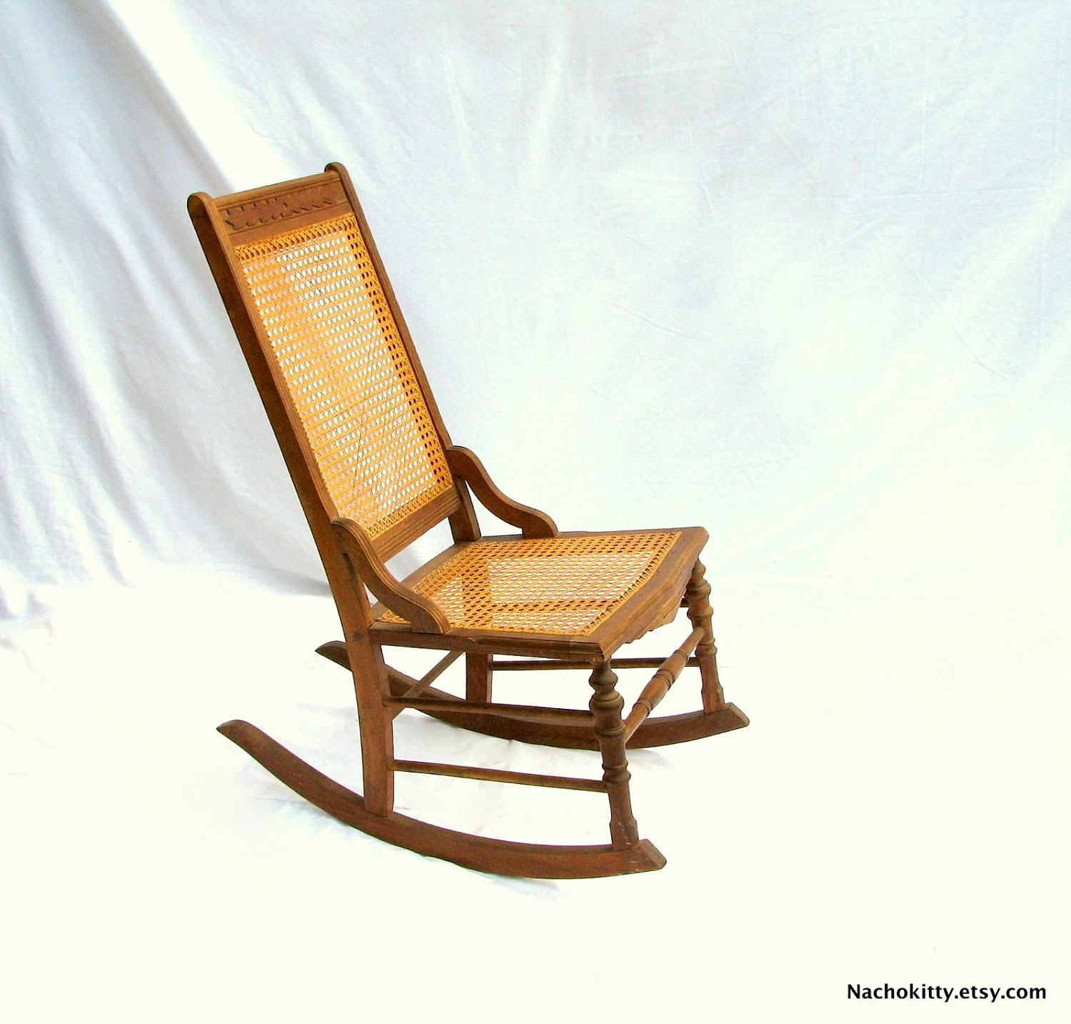 rocking chair cane tranquil ease lift model 7051 3 caned antique hand carved hardwood by nachokitty