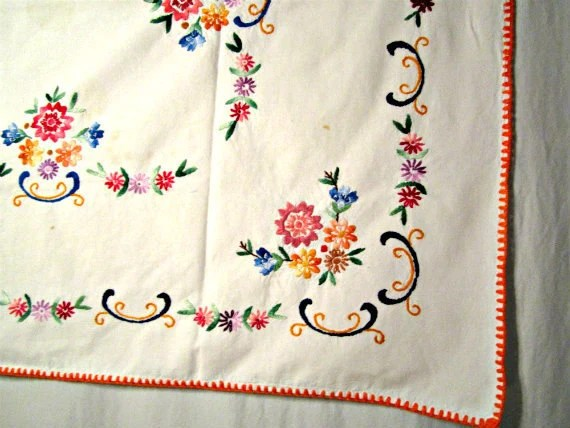small rectangular kitchen table price pfister faucet repair 1950s tablecloth hand embroidery dining table.