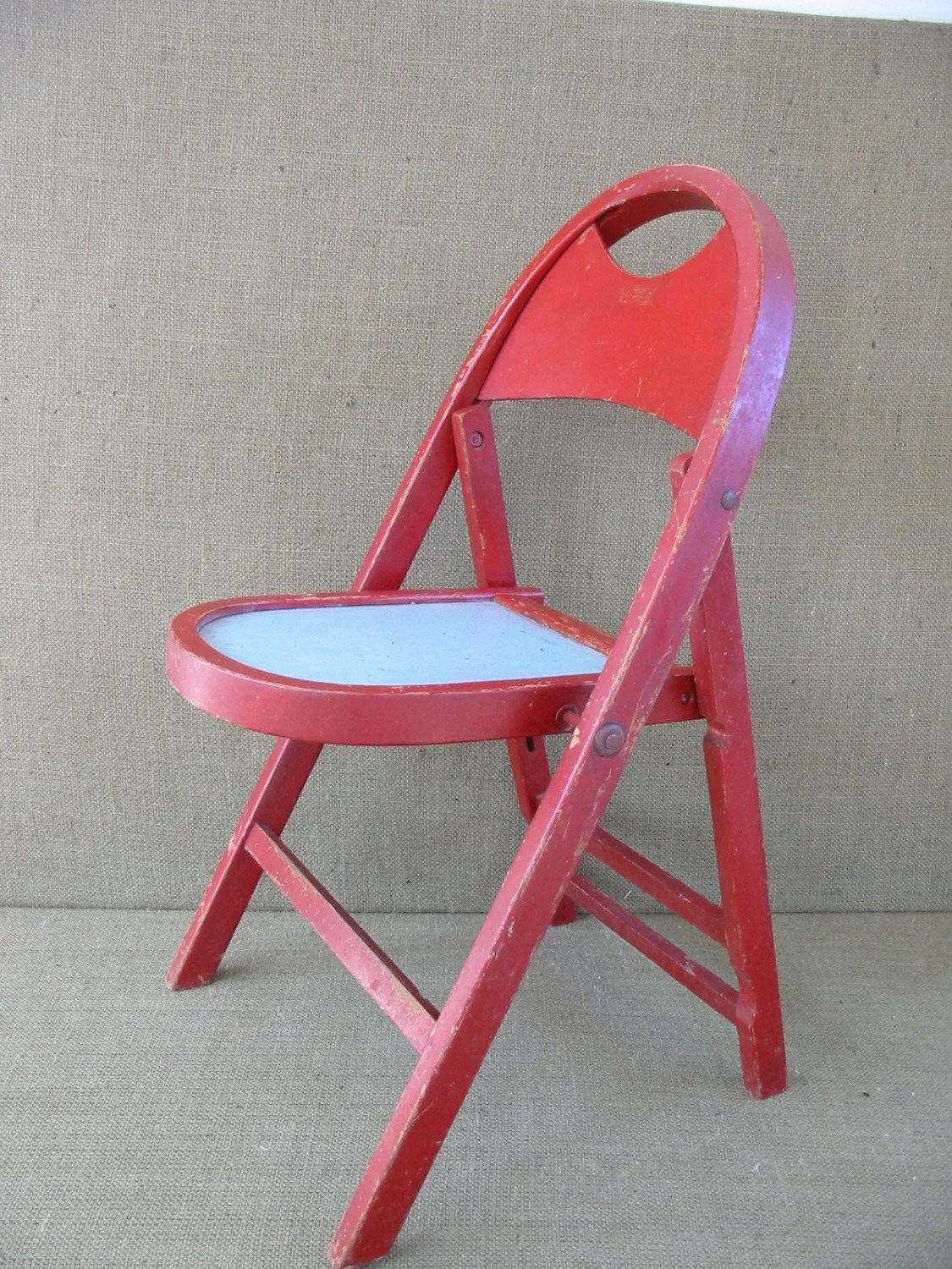 Kids Folding Chair Child 39s Folding Chair Children 39s Chair Red Vintage