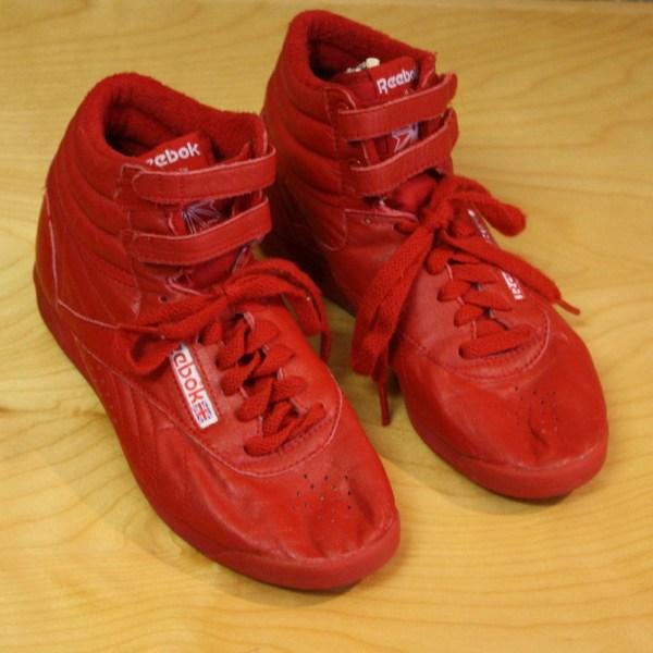 Classic 80' Red Reebok -top Sneakers Velcro Sz 7