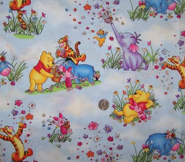 Winnie Pooh Heffalump Fabric Yard