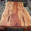 Live edge cedar dining in or outdoor picnic by jamesrobinson