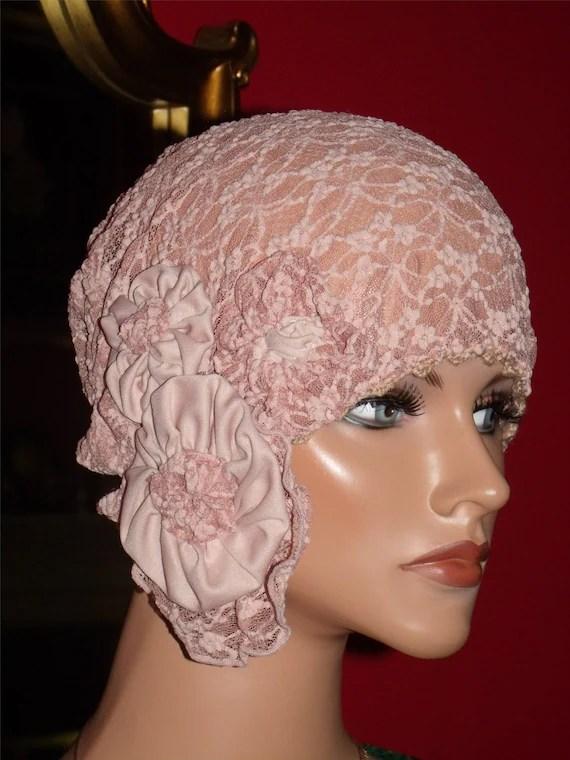 Summer Daytime 1920s Hat Flapper Cloche Hat Pink Wedding