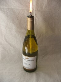 Wine bottle oil lamp DIY kit by CleverlyInspire on Etsy