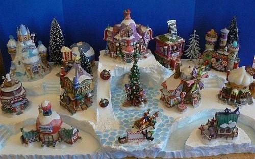 Making Christmas Village Display