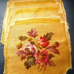 Chair Covers Vintage Pictures Of Chairs For Bedrooms Needlepoint Embroidery Set 4