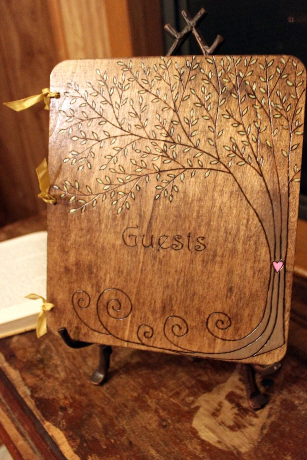 Custom Wedding Guest Book Tree
