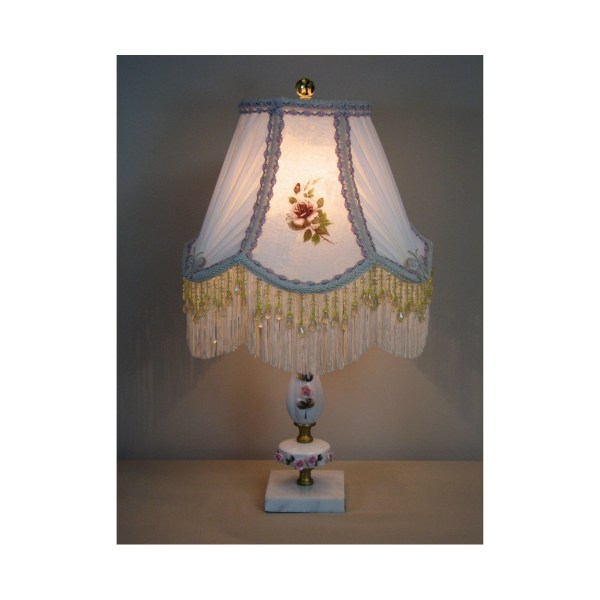 Vintage Table Lamp With Victorian Shade