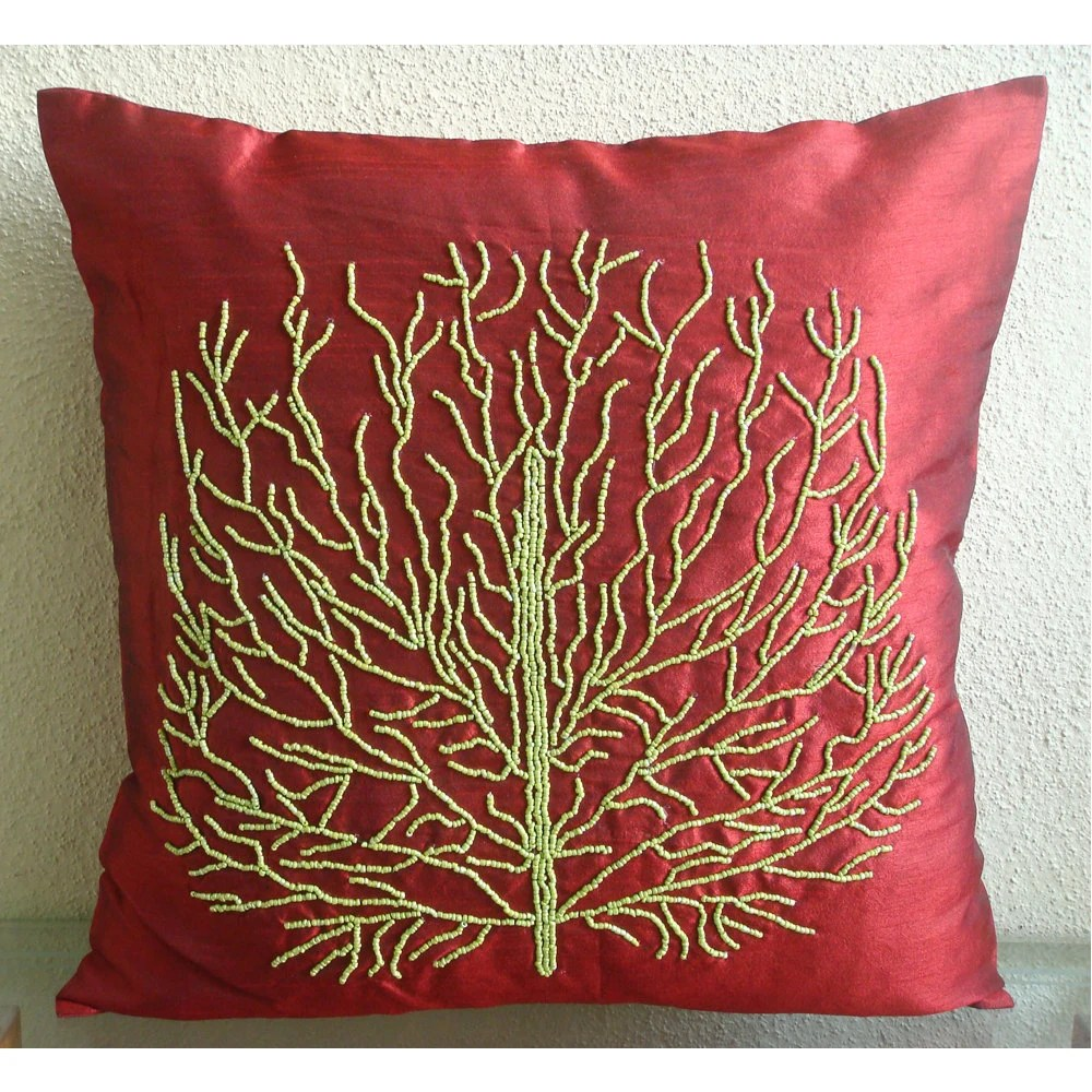 Tree Of Joy Throw Pillow Covers 20X20 Inches by TheHomeCentric