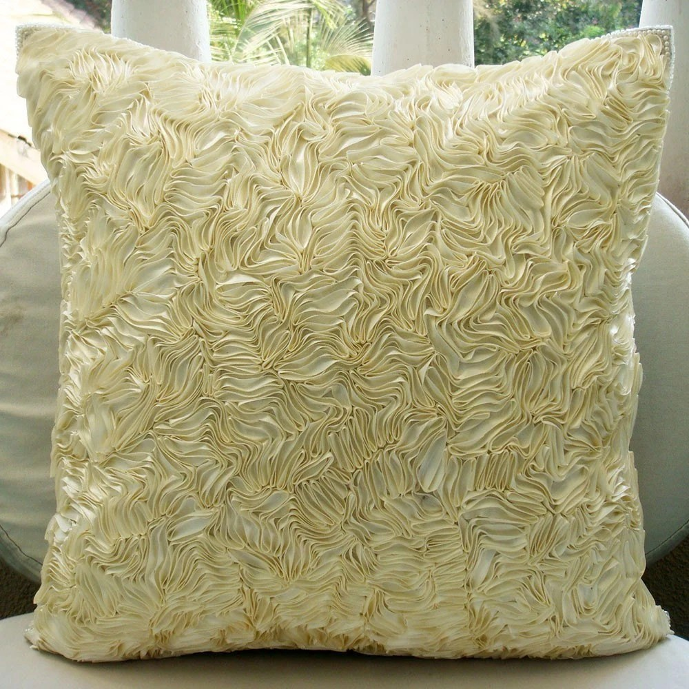Thats Satin Ribbon Throw Pillow Covers 20x20 Inches Silk