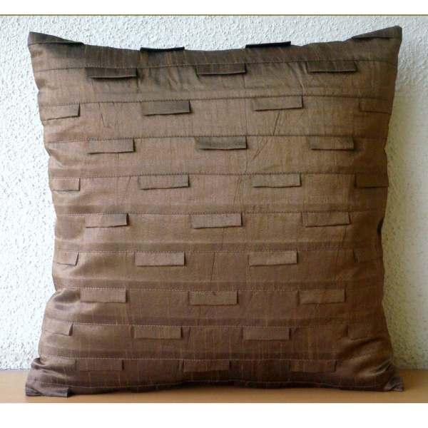 Brown Ocean Euro Sham Covers 26x26 Inches Silk