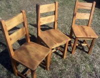 Reclaimed Antique Oak Farmhouse Dining Chairs