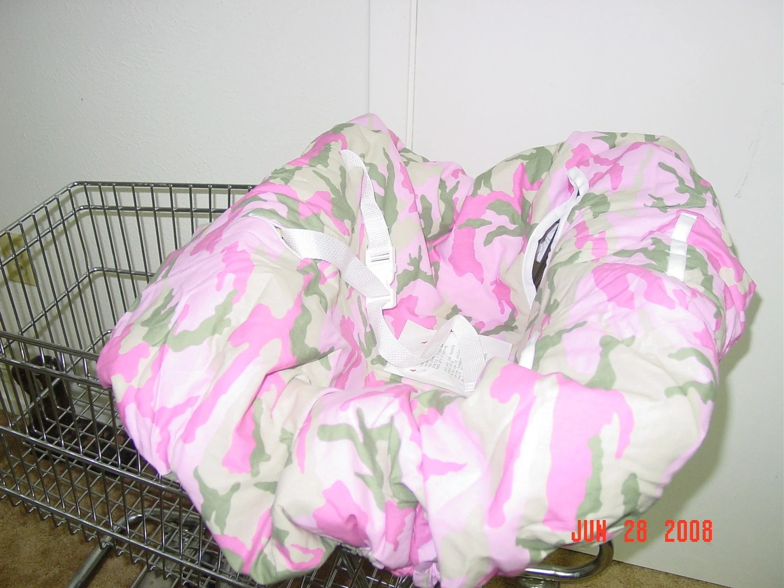 pink high chairs love sac chair camo shopping cart cover