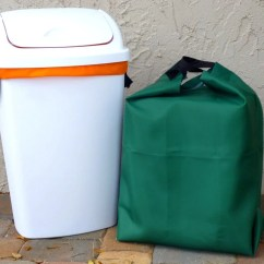 13 Gallon Kitchen Trash Can How Much Does It Cost To Replace Cabinet Doors Two Reusable Recycling Liners Large