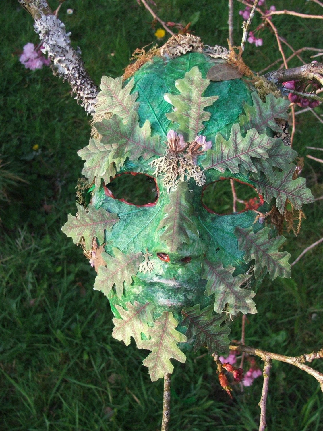Beltane Green Man Mask by MoonrootDesigns on Etsy