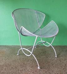 Vintage Mid Century Salterini Orange Slice Patio Chair Eames