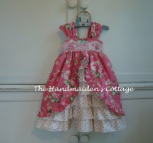 Barefoot Roses Tea Party Dress.sizes 6 Months Size
