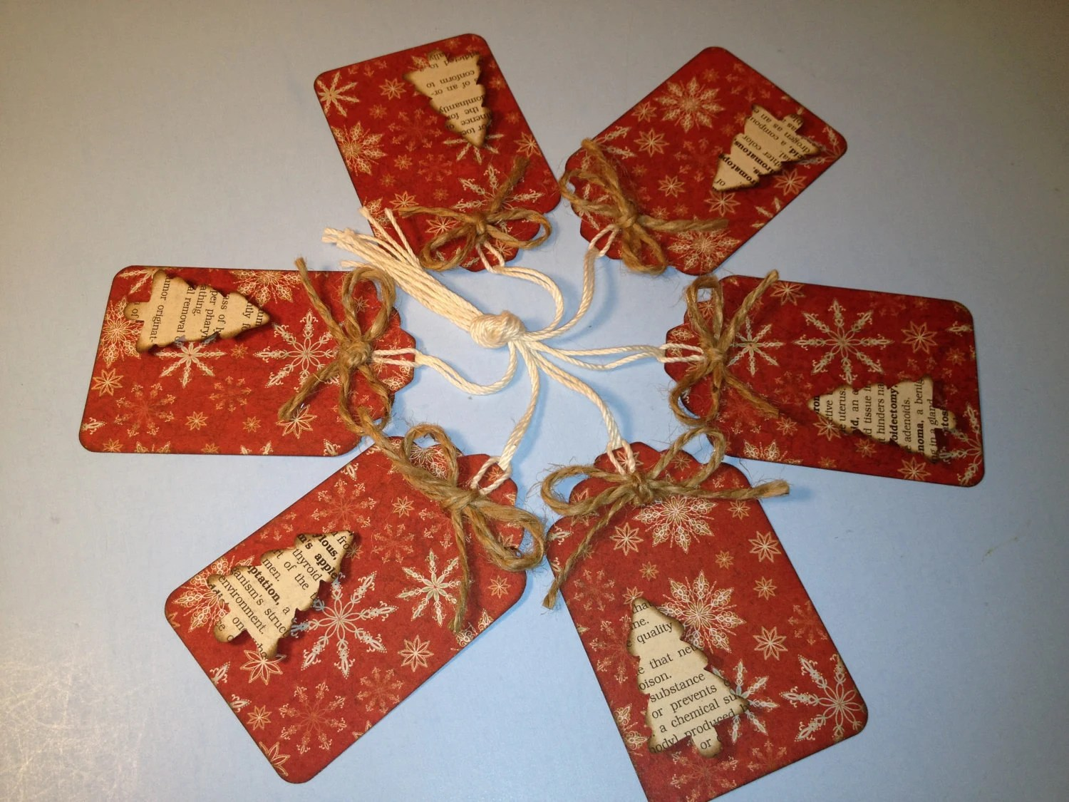 Primitive Christmas 3D Gift Tags Scrapbooking Gift Wrap