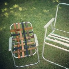 Webbed Folding Lawn Chairs Kids Eames Chair Heeere's Earl Upcycled Recycled Ladder