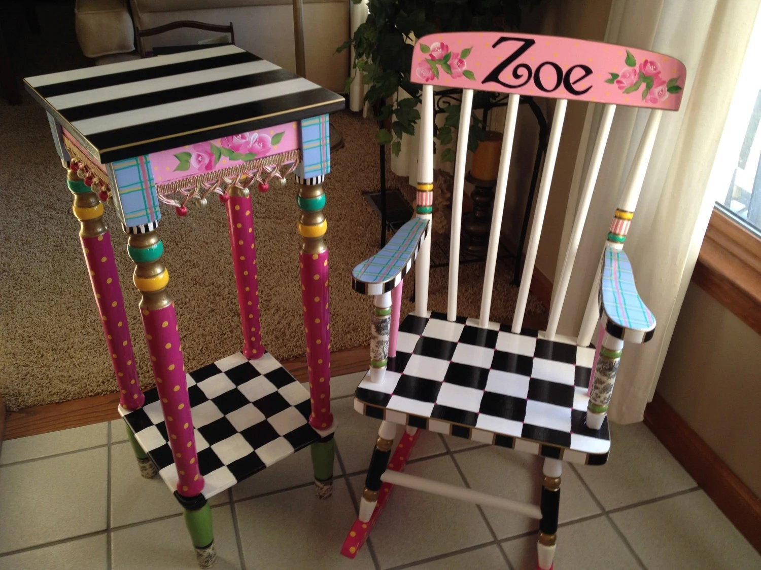 Girls Rocking Chair Whimsical Painted Furniture Whimsical Painted Rocking Chair