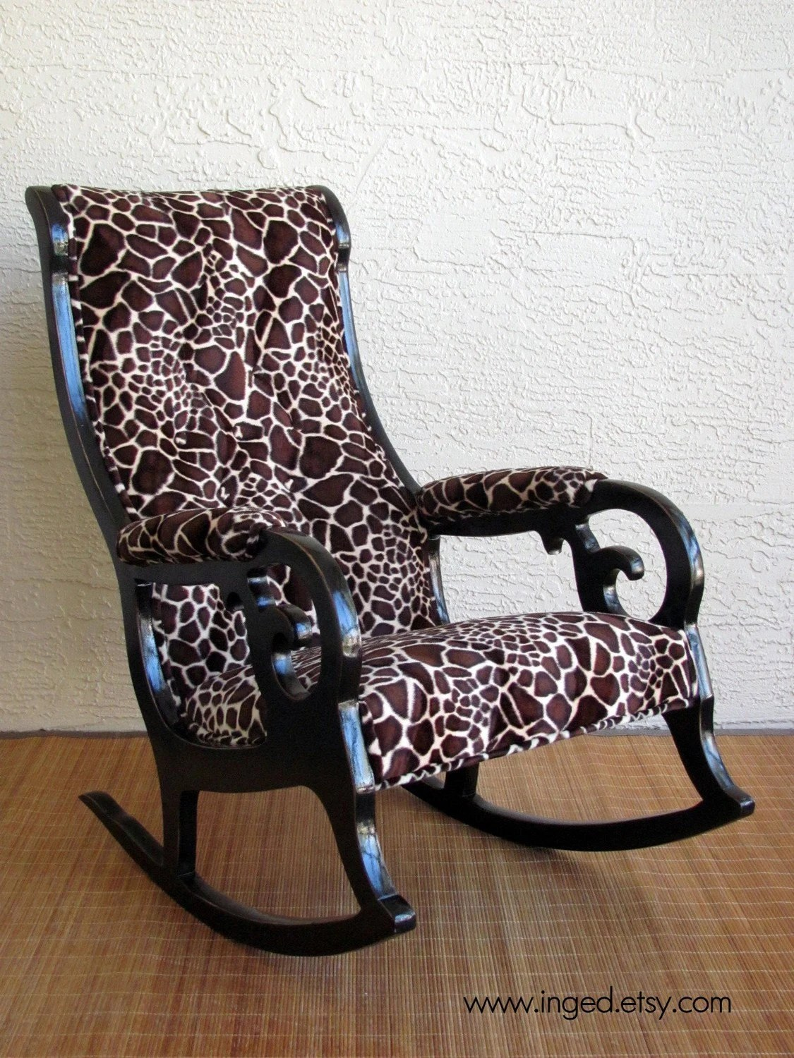 Giraffe Rocking Chair Vintage Victorian Rocking Chair In Giraffe Print Free