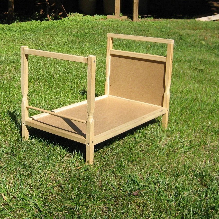 Unfinished Wood Doll Bed