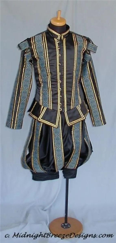 Elizabethan Costumes Men