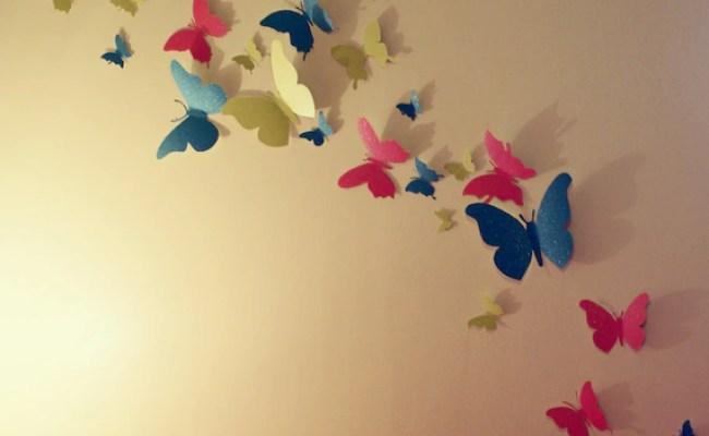 30 Glitter 3d Butterfly Wall Art Circle Burst