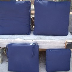 Navy Blue Patio Chair Cushions Toddler Time Out With Buckle 4 Plow And Hearth Outdoor Zipper