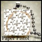 Coffee Coffee Coffee Scrabble Tile Pendant -Free Ball chain