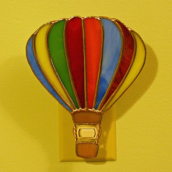 Stained Glass Hot Air Balloon Night Lamp
