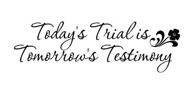 Items similar to Wall Decal Todays Trial is Tomorrows