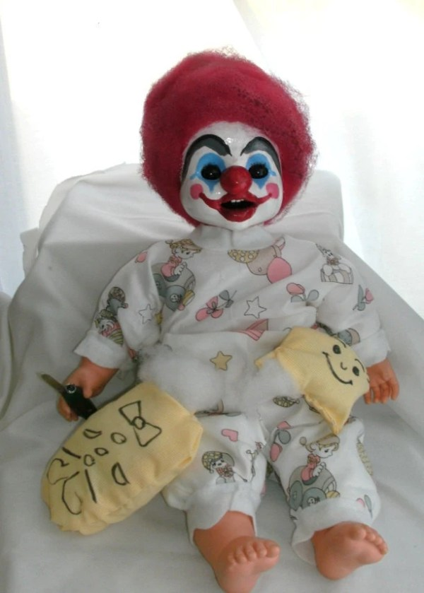 Items similar to Creepy Killer Clown Baby doll on Etsy