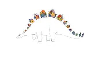 Items similar to Steamosaurus 8x10 steampunk dinosaur art