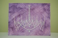 Items similar to Original Watercolor Painting, Chandelier ...