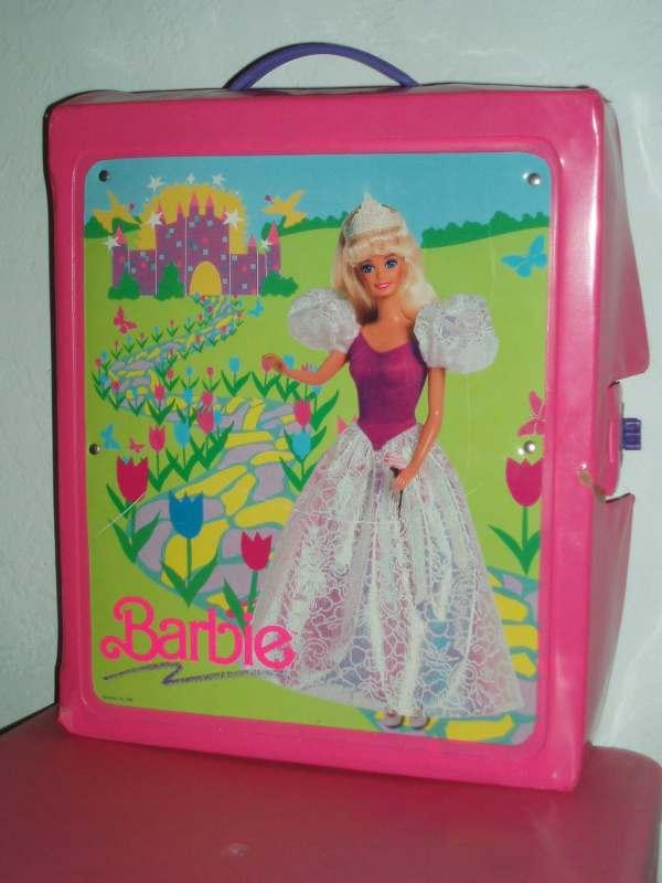 1989 Pink Vinyl Barbie Doll Case Oldsurprises