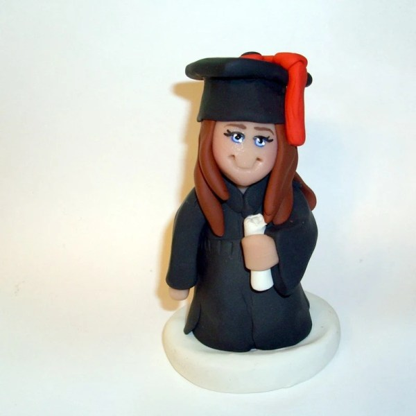 Custom Graduation Cake Topper Figurine Gingerbabies