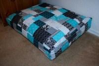 Teal Patchwork Dog Bed